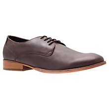 Buy KG by Kurt Geiger Plain Tapered Leather Derby Shoes, Brown Online at johnlewis.com