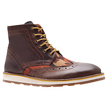 Buy KG by Kurt Geiger Howdale Lace-up Ankle Boots, Brown Online at johnlewis.com