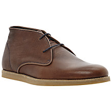 Buy Bertie Canda Leather Desert Wedge Boots, Tan Online at johnlewis.com
