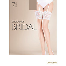 Buy John Lewis 7 Denier Bridal Stockings Online at johnlewis.com