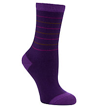 Buy Falke Cosy Wool Boxed Ankle Socks, Purple Online at johnlewis.com