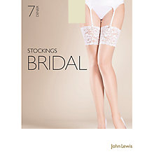 Buy John Lewis 7 Denier Bridal Hold Up Stockings Online at johnlewis.com