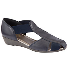 Buy John Lewis Designed for Comfort Fisherman Sandals, Navy Online at johnlewis.com