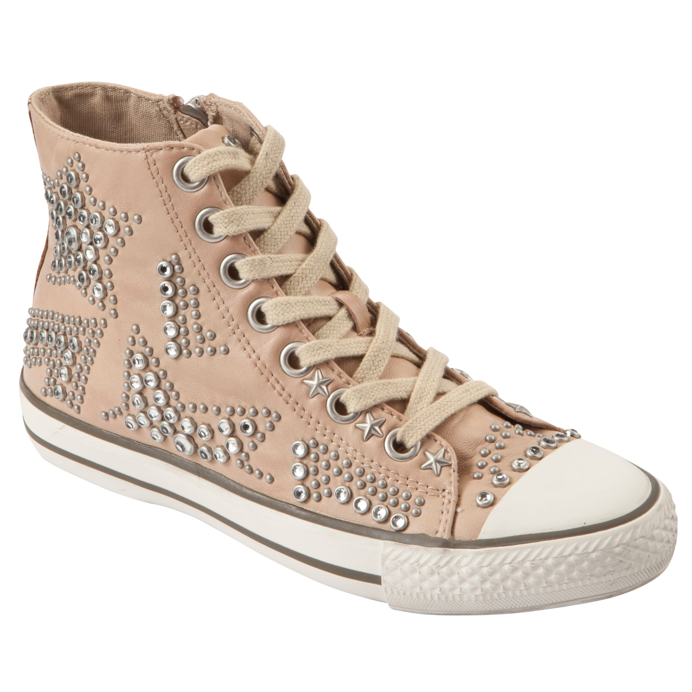 Ash Vibration Studded Trainers, Clay