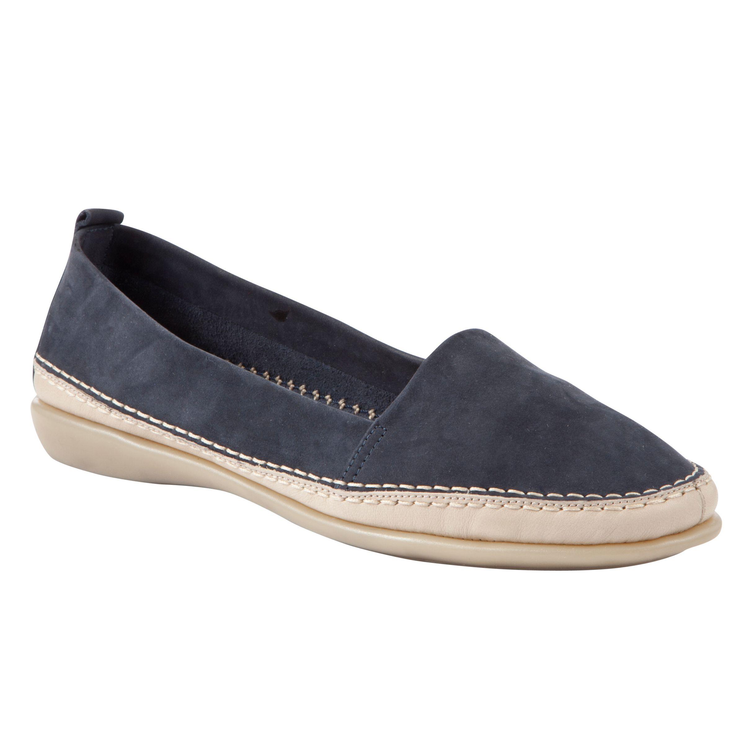John Lewis Designed For Comfort Wren Loafers, Navy