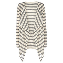 Buy Oasis Stripe Drape Cardigan, Neutrals Online at johnlewis.com
