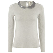 Buy White Stuff Bejewelled Jumper, Dusty grey Online at johnlewis.com