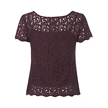 Buy White Stuff Audrey Top, Dark Pinotage Online at johnlewis.com