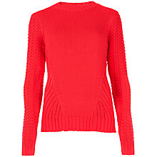 Buy Ted Baker Neon Cable Jumper, Bright Red Online at johnlewis.com