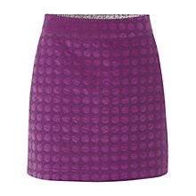 Buy White Stuff Daisy Velvet Emb Skirt, Chinese pink Online at johnlewis.com