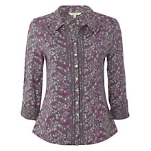 Buy White Stuff Lotus Print Shirt, Chinese Pink Online at johnlewis.com