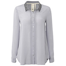 Buy White Stuff Florence Shirt, Ice Grey Online at johnlewis.com