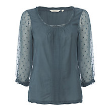 Buy White Stuff Marble Long Sleeve Top, Deep Teal Online at johnlewis.com