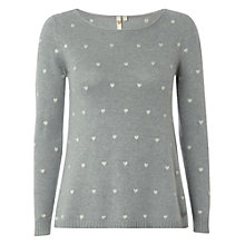 Buy White Stuff Hairy Heart Jumper, Light Teal Online at johnlewis.com