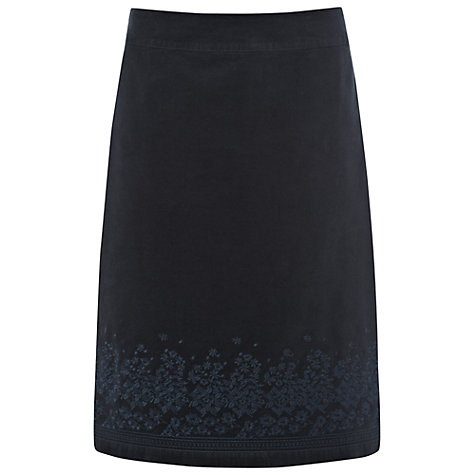 Buy White Stuff Velvet Skirt, Teal Online at johnlewis.com
