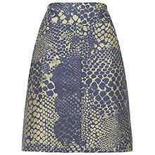 Buy Whistles Snake Print Skirt, Green Multi Online at johnlewis.com