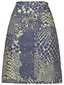 Whistles Snake Print Skirt, Green Multi