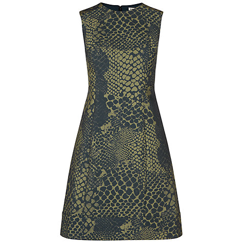 Buy Whistles Lucie Snake Dress, Multi Online at johnlewis.com