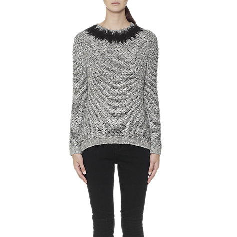 Buy Whistles Noemie Bouclé Jumper, Silver Online at johnlewis.com