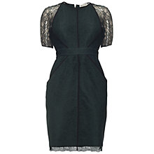 Buy Whistles Rebecca Lace Dress, Dark Green Online at johnlewis.com