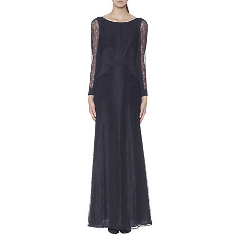 Buy Whistles Maxine Lace Maxi Dress, Blue Online at johnlewis.com