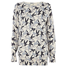 Buy Oasis Camouflage Jumper, Light Neutral Online at johnlewis.com