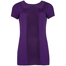 Buy Ted Baker Pintuck Collar Pleated Panel Top, Purple Online at johnlewis.com