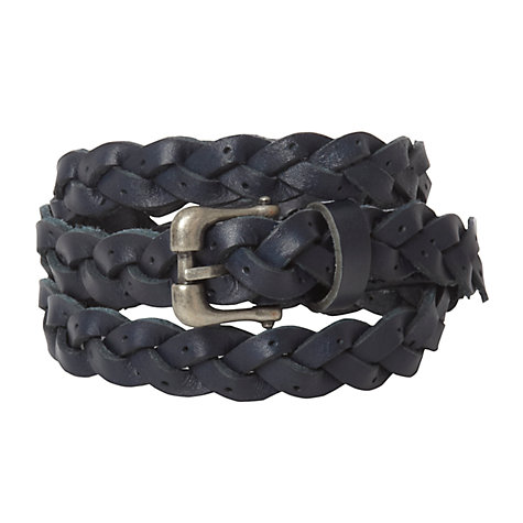 Buy White Stuff Skinny Punch Out Belt, Navy Online at johnlewis.com