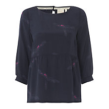Buy White Stuff Parrot Print Top, Midnight Online at johnlewis.com