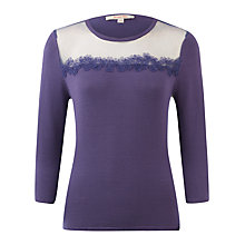 Buy Jacques Vert Viola Applique Jumper, Purple Online at johnlewis.com