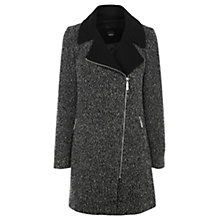 Buy Oasis Salt And Pepper Biker Coat, Black/White Online at johnlewis.com