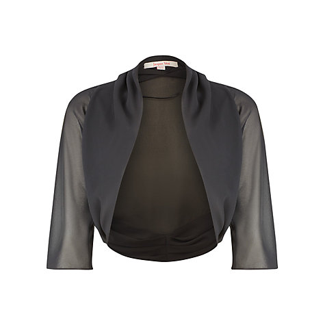 Buy Jacques Vert Soft Shrug, Black Online at johnlewis.com