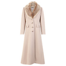 Buy Jacques Vert Long Palomino Coat, Neutral Online at johnlewis.com