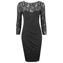 Buy Planet Lace and Sequin Jersey Dress, Black Online at johnlewis.com