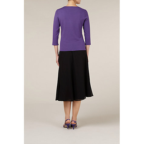 Buy Jacques Vert Chiffon Skirt, Black Online at johnlewis.com
