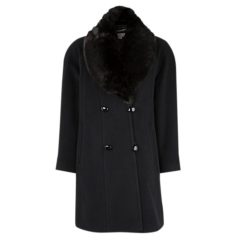 Buy Jacques Vert Classic Coat, Black Online at johnlewis.com