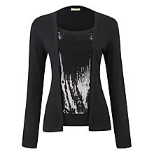 Buy Planet Sequin Panel Jumper, Black Online at johnlewis.com