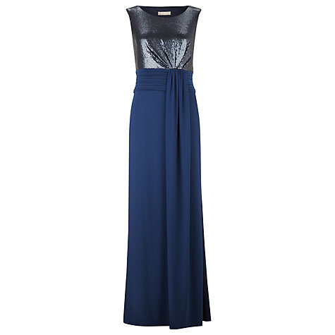 Buy Planet Sequin Detail Maxi Dress, Navy Online at johnlewis.com