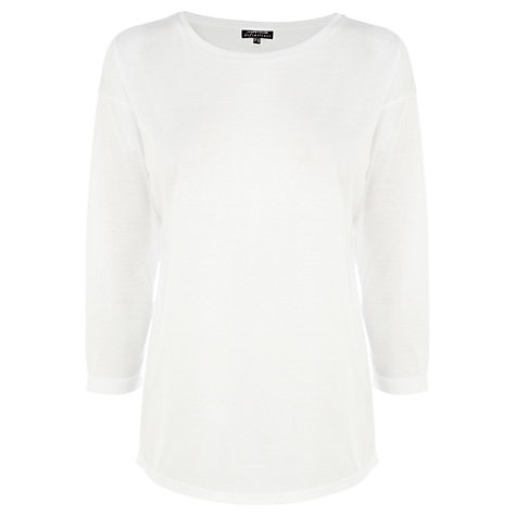 Buy Warehouse Long Sleeve Boyfriend Top Online at johnlewis.com