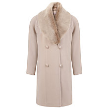 Buy Jacques Vert Palomino Faux Fur Coat, Neutral Online at johnlewis.com