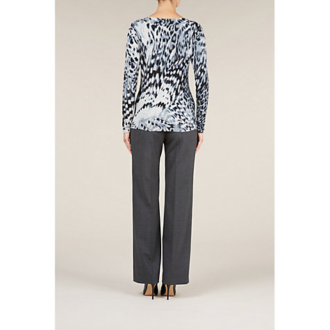 Buy Planet Feather Knit Print Jumper, Grey Online at johnlewis.com