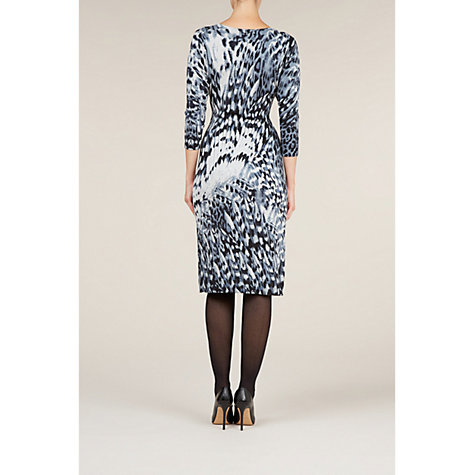 Buy Planet Feather Print Knit Dress, Grey Online at johnlewis.com