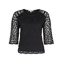 Buy Jacques Vert Cornelli Jersey Top, Black Online at johnlewis.com