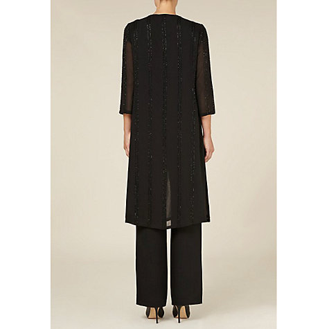 Buy Jacques Vert Long Chiffon Overshirt Jacket, Black Online at johnlewis.com