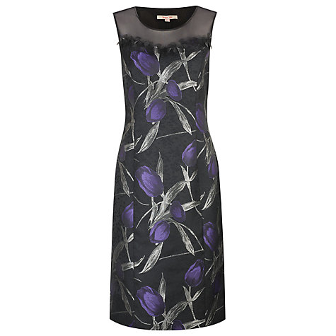 Buy Jacques Vert Floral Dress, Black Online at johnlewis.com