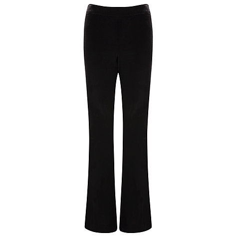 Buy Planet Velvet Trousers, Black Online at johnlewis.com