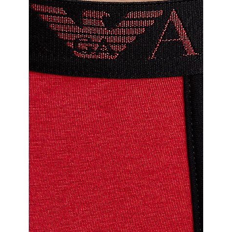 Buy Emporio Armani Stretch Cotton Trunks, Red/Black Online at johnlewis.com