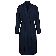 Buy Hugo Boss Waffle Robe, Navy Online at johnlewis.com