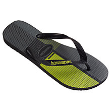Buy Havaianas Trend Flip Flops, Black/Multi Online at johnlewis.com