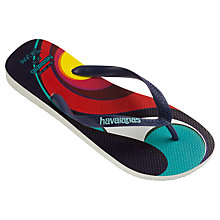 Buy Havaianas Hype Rom Vega Flip Flops, Navy/Multi Online at johnlewis.com